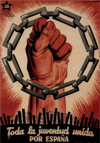 Toda La Juventud Unida Por Espana Spain | Vintage War Propaganda Posters 1891-1970