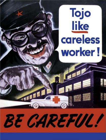 Tojo Like Careless Worker Be Careful Hideki Tojo | Vintage War Propaganda Posters 1891-1970