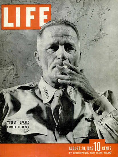 Tooey Spaatz Bomber of japan 20 Aug 1945 Copyright Life Magazine | Life Magazine BW Photo Covers 1936-1970