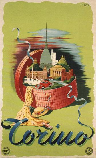 Torino The City Italy Italia | Vintage Travel Posters 1891-1970