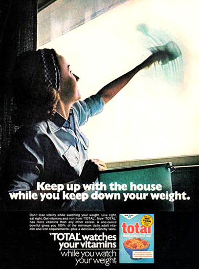 Total Keep Up House While Keep Down Weight | Sex Appeal Vintage Ads and Covers 1891-1970