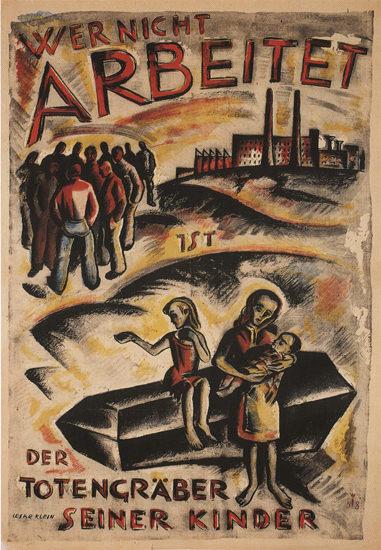 Totengraeber Seiner Kinder Kids Grave Digger | Vintage War Propaganda Posters 1891-1970