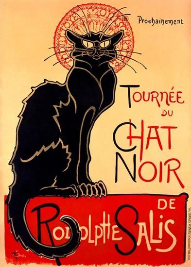 Tournee Du Chat Noir Rodolphe Salis Black Cat | Vintage Ad and Cover Art 1891-1970
