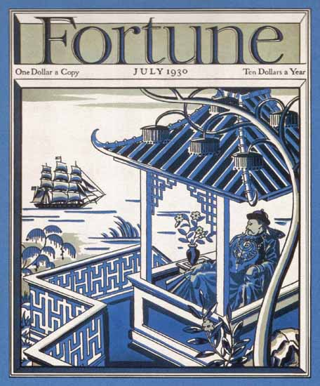 Trade with China Fortune Magazine July 1930 Copyright | Fortune Magazine Graphic Art Covers 1930-1959