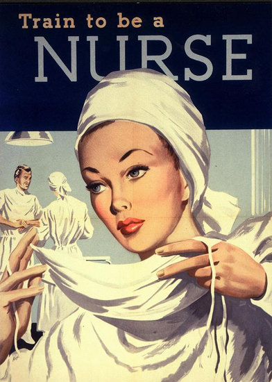 Trained To Be A Nurse Operating Room | Sex Appeal Vintage Ads and Covers 1891-1970