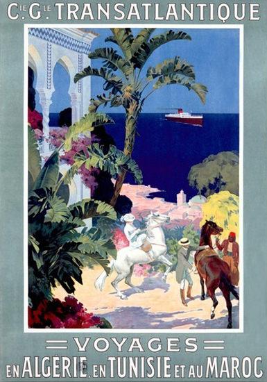 Transatlantique Voyages Algerie Tunisie Maroc | Vintage Travel Posters 1891-1970