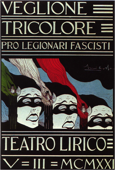 Tricolore Por Legionari Fascisti Fascistic Legion | Vintage War Propaganda Posters 1891-1970