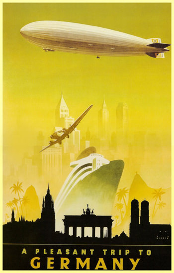 Trip To Germany Zeppelin NewYork Berlin | Vintage Travel Posters 1891-1970