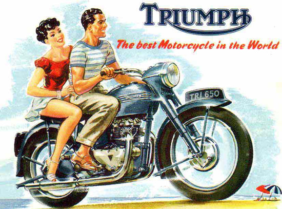 Triumph Motorcycles TR 650 The Best In 1956 | Sex Appeal Vintage Ads and Covers 1891-1970