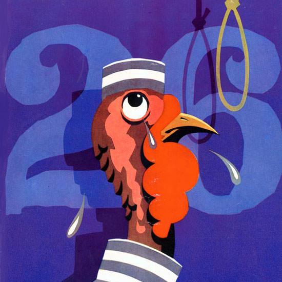 Turkeys last Day Life Humor Magazine 1931-11-20 Copyright crop | Best of Vintage Cover Art 1900-1970