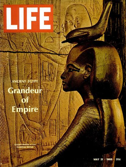 Tutankhamun Grave Goods 31 May 1968 Copyright Life Magazine | Life Magazine Color Photo Covers 1937-1970