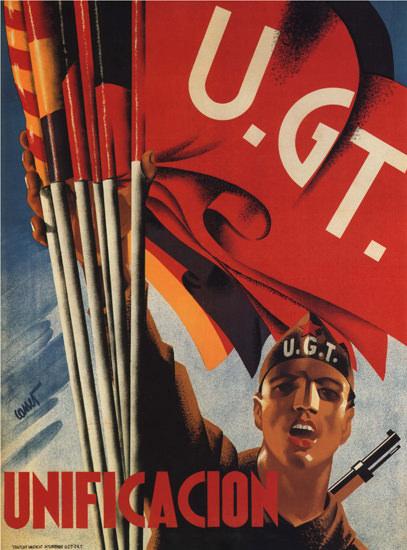UGT Unificacion Spain Espana | Vintage War Propaganda Posters 1891-1970
