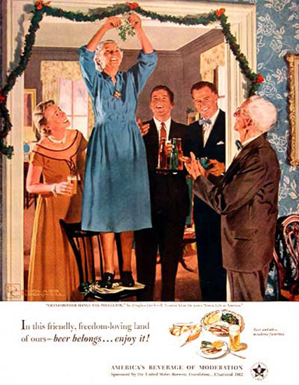 US Brewers Foundation 1951 Christmas | Vintage Ad and Cover Art 1891-1970