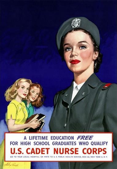 US Cadet Nurse Corps | Vintage War Propaganda Posters 1891-1970