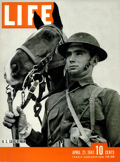 US Cavalryman 21 Apr 1941 Copyright Life Magazine | Life Magazine BW Photo Covers 1936-1970
