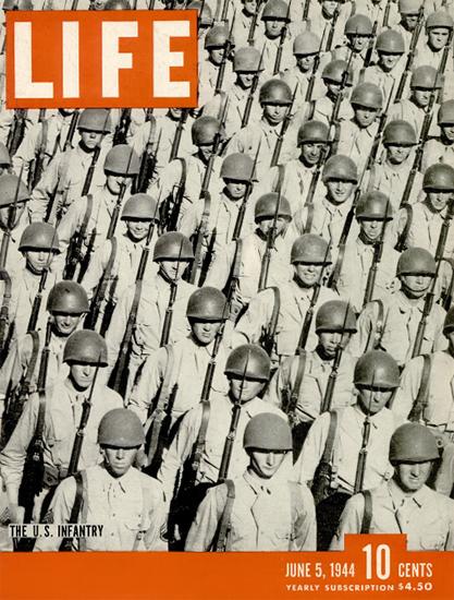 US Infantry 5 Jun 1944 Copyright Life Magazine   Life Magazine BW Photo Covers 1936-1970