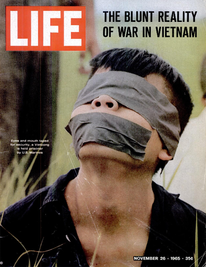 US Marines held Vietcong prisone 26 Nov 1965 Copyright Life Magazine | Life Magazine Color Photo Covers 1937-1970