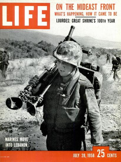 US Marines move into Lebanon 28 Jul 1958 Copyright Life Magazine | Life Magazine BW Photo Covers 1936-1970