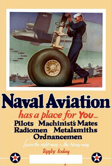 US Navy Naval Aviation Has A Place For You   Vintage War Propaganda Posters 1891-1970