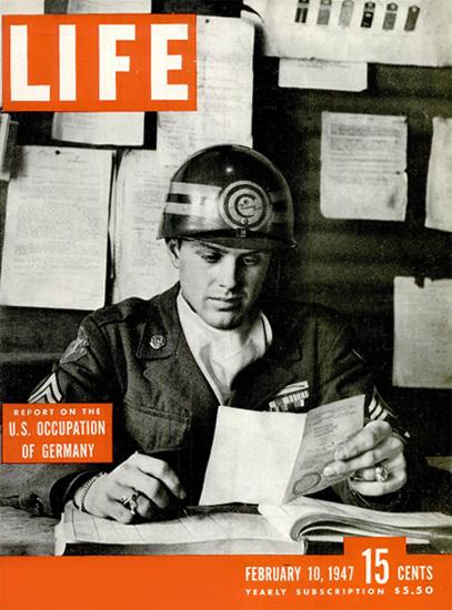 US Occupation of Germany 10 Feb 1947 Copyright Life Magazine   Life Magazine BW Photo Covers 1936-1970