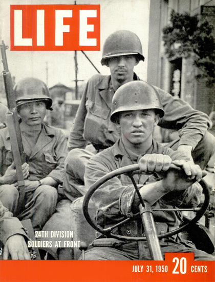 US Soldiers at Front in Korea 31 Jul 1950 Copyright Life Magazine | Life Magazine BW Photo Covers 1936-1970