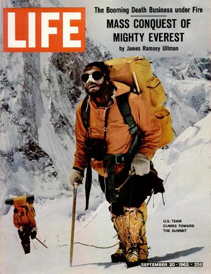 US Team Climbs Mount Everest 20 Sep 1963 Copyright Life Magazine | Life Magazine Color Photo Covers 1937-1970