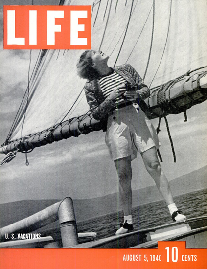US Vacations 5 Aug 1940 Copyright Life Magazine | Life Magazine BW Photo Covers 1936-1970