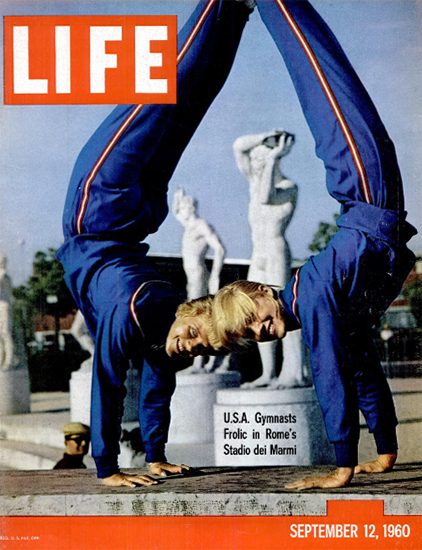 USA Gymnasts Frolic in Rome 12 Sep 1960 Copyright Life Magazine | Life Magazine Color Photo Covers 1937-1970