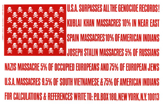 USA Surpasses All The Genocide Records Flag | Vintage War Propaganda Posters 1891-1970