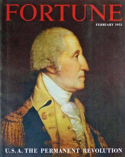 USA The Permanent Revolution Fortune Cover February 1951 Copyright | Fortune Magazine Graphic Art Covers 1930-1959