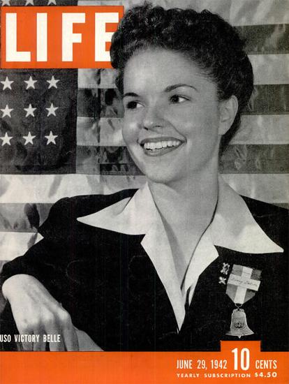 USO Victory Belle 29 Jun 1942 Copyright Life Magazine | Life Magazine BW Photo Covers 1936-1970