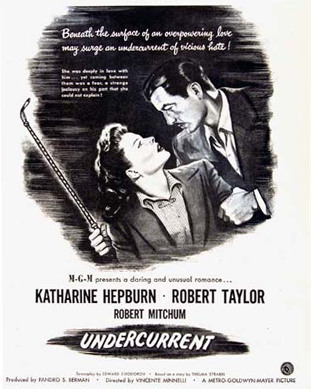 Undercurrent Movie 1946 Katherine Hepburn | Sex Appeal Vintage Ads and Covers 1891-1970