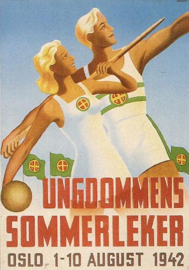 Ungdommens Sommerleker 1942   Vintage War Propaganda Posters 1891-1970