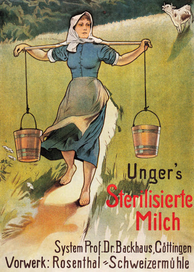 Ungers Sterilisierte Milch Goettingen Germany Milk | Sex Appeal Vintage Ads and Covers 1891-1970