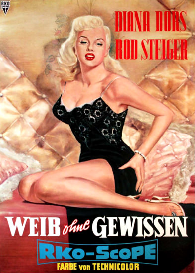 Unholy Wife Diana Dors Rod Steiger Movie 1958 | Sex Appeal Vintage Ads and Covers 1891-1970