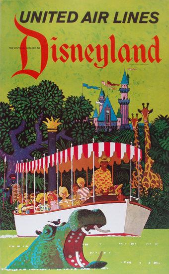 United Air Lines Disneyland 1960s | Vintage Travel Posters 1891-1970