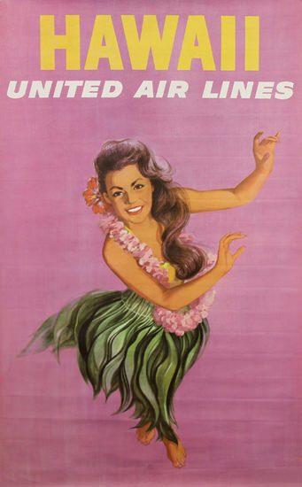 United Air Lines Hawaii Girl 1960s | Sex Appeal Vintage Ads and Covers 1891-1970