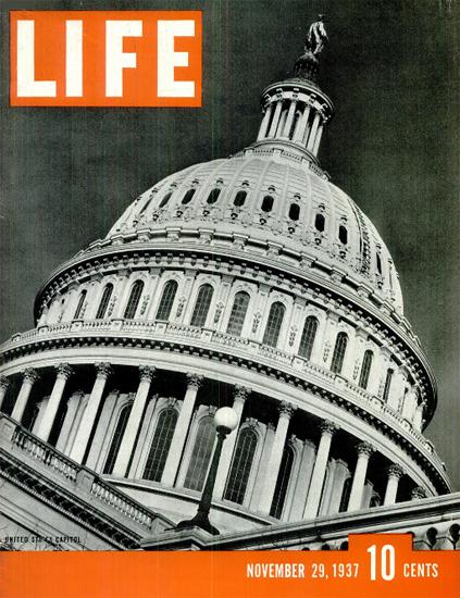 United States Capitol 29 Nov 1937 Copyright Life Magazine   Life Magazine BW Photo Covers 1936-1970