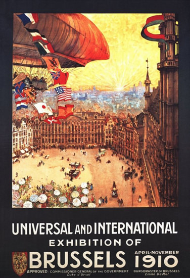 Universal And Int Exhibition Of Brussels 1910 | Vintage Ad and Cover Art 1891-1970