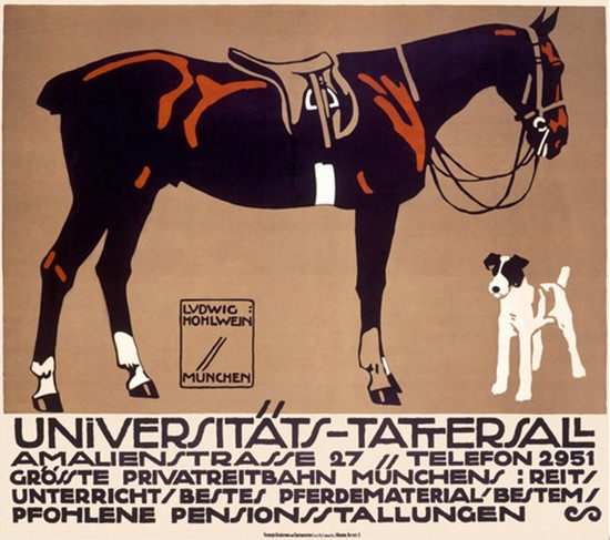 Universitaets-Tattersall Privatreibahn Muenchen   Vintage Ad and Cover Art 1891-1970