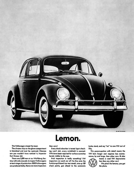 VW Lemon Volkswagen Beetle Kaefer | Vintage Cars 1891-1970