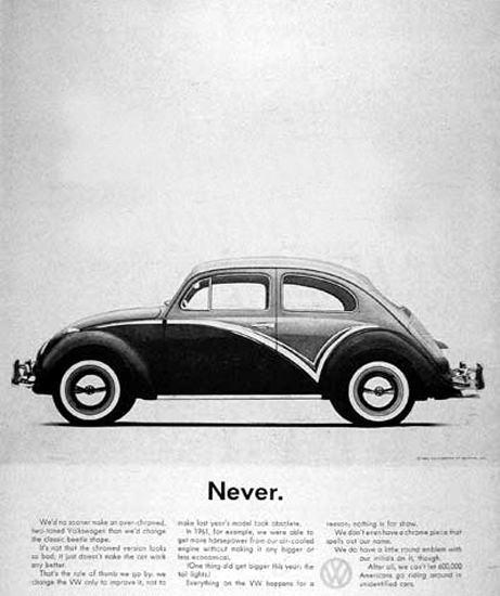 VW Volkswagen 1962 Beetle Never | Vintage Cars 1891-1970