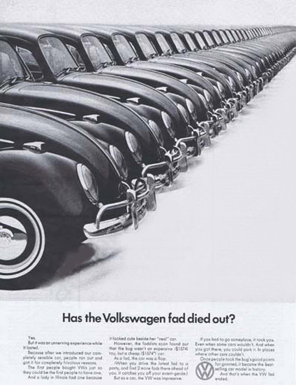 VW Volkswagen 1966 Beetle Has Fad Died Out | Vintage Cars 1891-1970