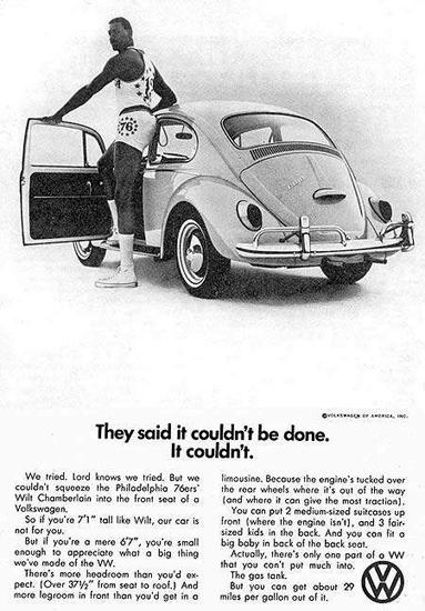 VW Volkswagen 1966 Beetle Wilt Chamberlain | Vintage Cars 1891-1970