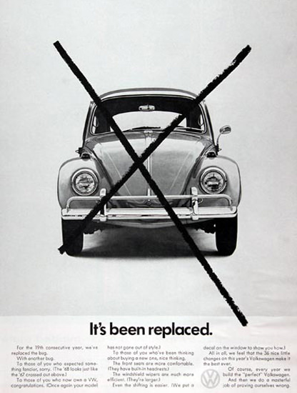 VW Volkswagen 1968 Beetle Its Been Replaced | Vintage Cars 1891-1970