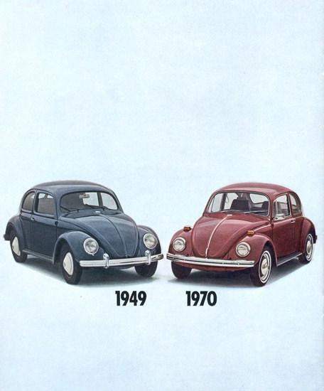 VW Volkswagen Beetle 1949 Vs 1970   Vintage Cars 1891-1970