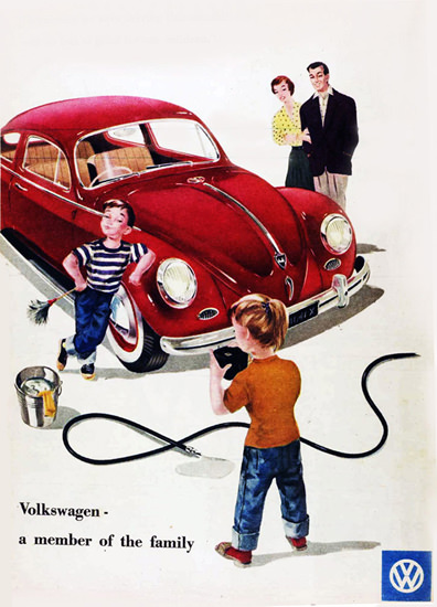 VW Volkswagen Beetle A Member Of Family 1958 | Vintage Cars 1891-1970