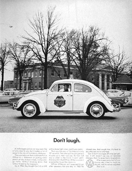 VW Volkswagen Beetle Police 1966 Dont Laugh | Vintage Cars 1891-1970