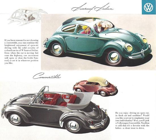 VW Volkswagen Beetle Sunroof Sedan 1958 | Vintage Cars 1891-1970