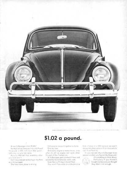 VW Volkswagen Beetle USD 1-02 A Pound 1963 | Vintage Cars 1891-1970